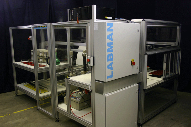 Centrifuge and clean-up system Labman
