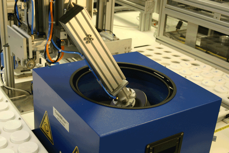 Dual Axis Centrifuge Integration