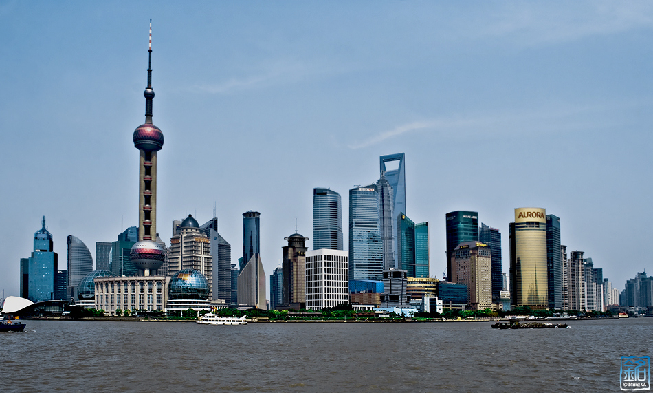 shanghai skyline buildings architecture glass modern