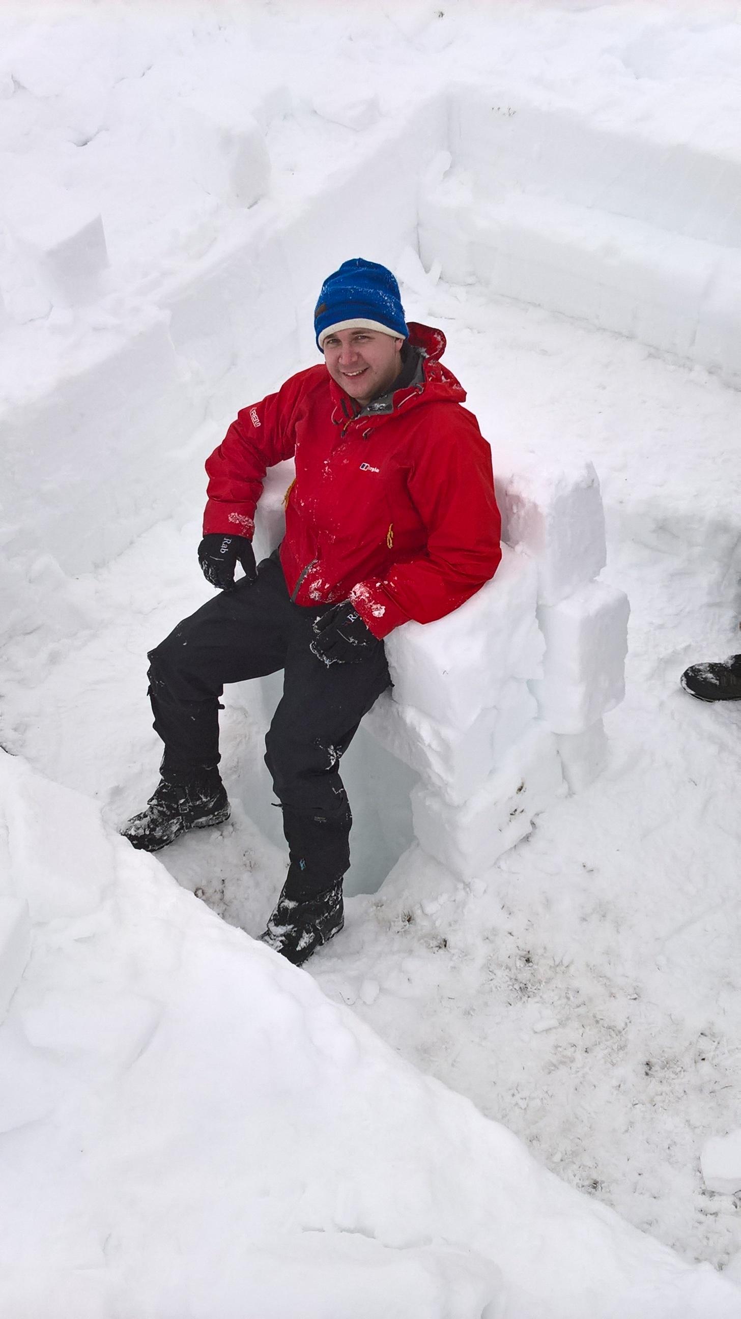 Labman Iglooing Aviemore Ian Riley loo latrine