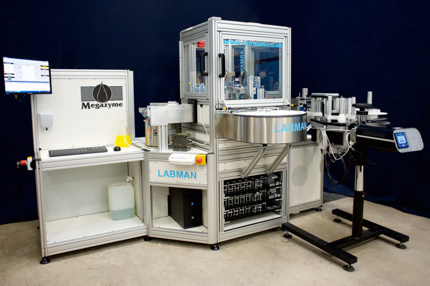 Semi Automated Vial Packaging and Labelling System Labman