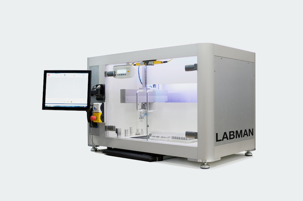 Automated vial weighing system by Labman