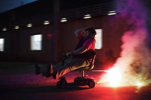 Labman automation Innovation rocket powered scooter firework mobility