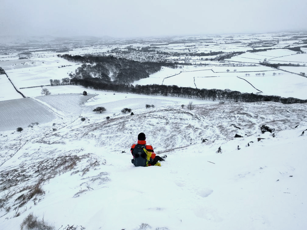 Beast from the east Labman Roseberry Topping