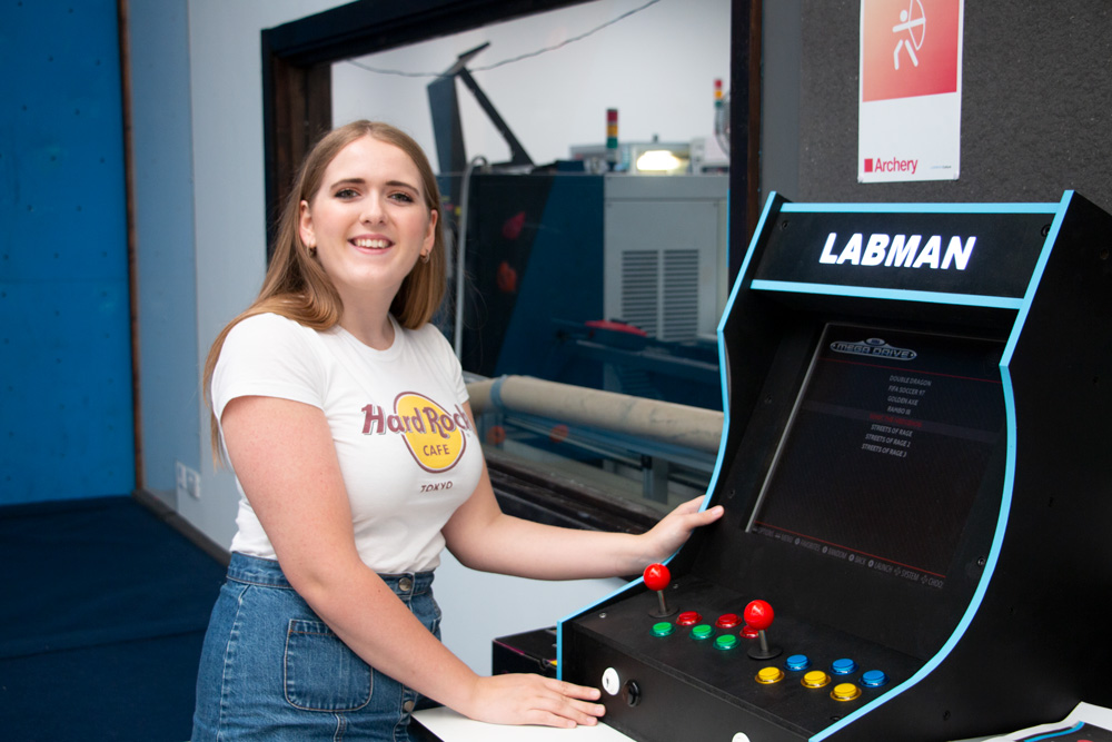 Joy Fletcher Woman in Engineering Labman Job Arcade Machine