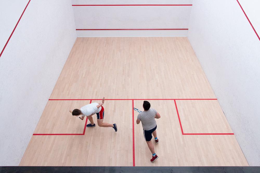 Labman interns internship squash court at work