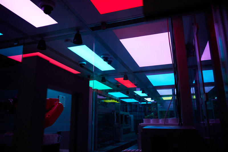 Liverpool University Materials Innovation Factory MIF Labman Automated formulation engine LED panels lights