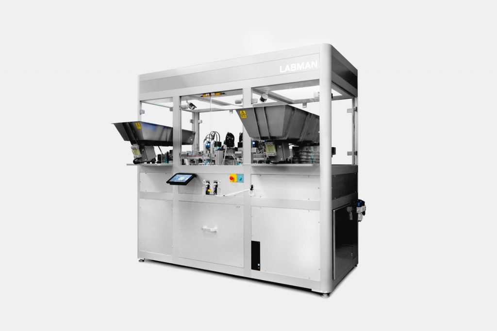 Automated vial filling system labman