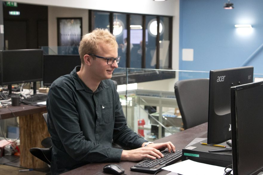 William during his Internship at Labman Automation