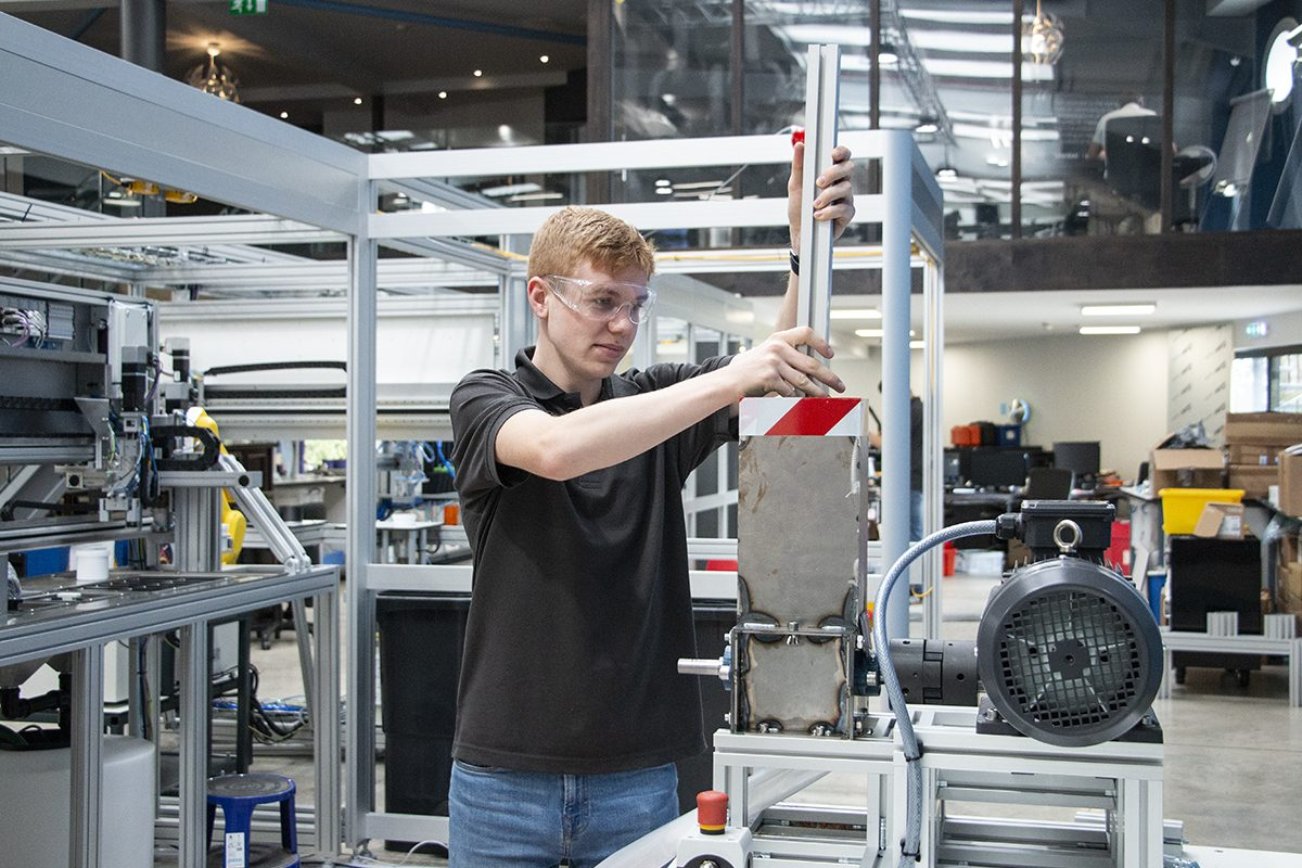 James during his internship at Labman Automation