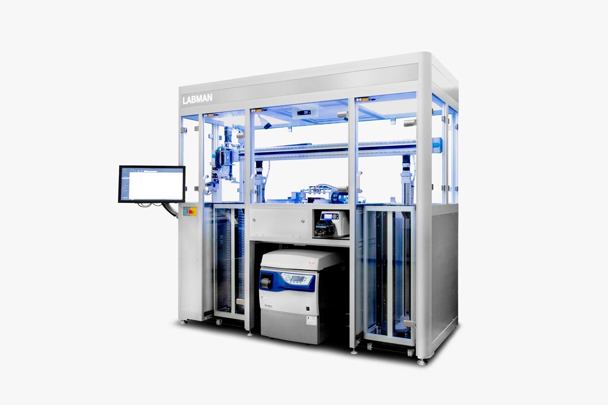 Agar tray filling robot system Labman