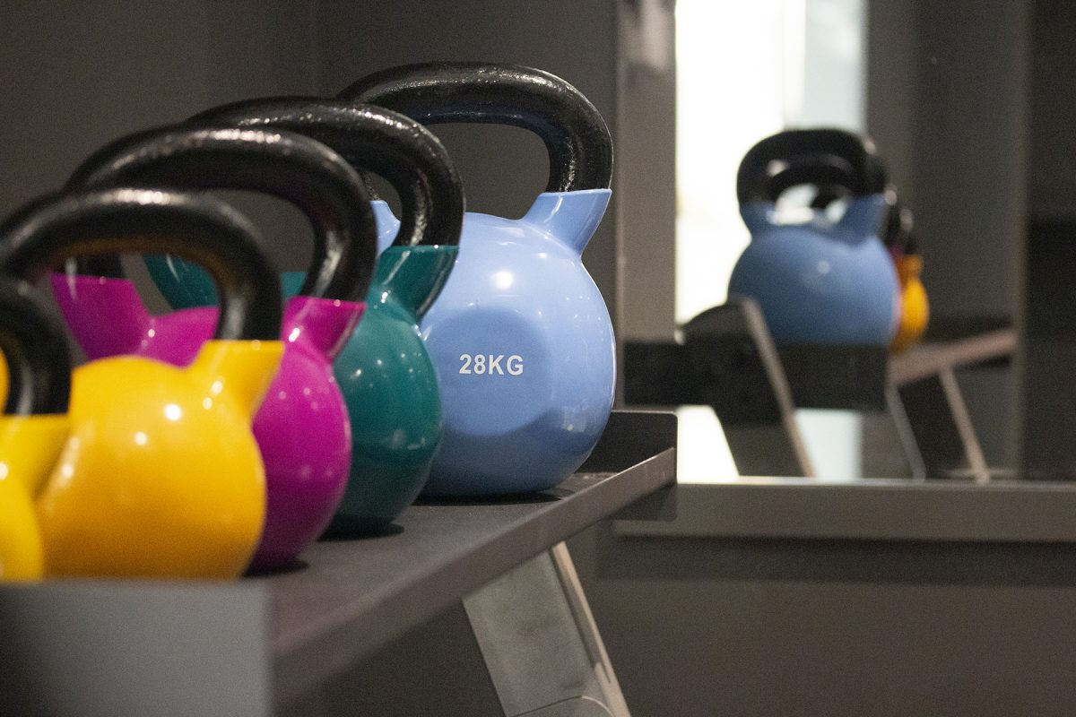 Dumbbells at the Labman Gym